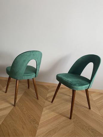Komplet 4 krzeseł ANTONI SUMAN czechoslowacja prl art deco
