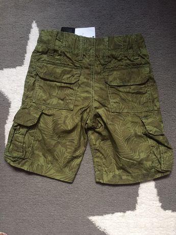 H&m nowe bojówki szorty 92cm krótkie spodenki