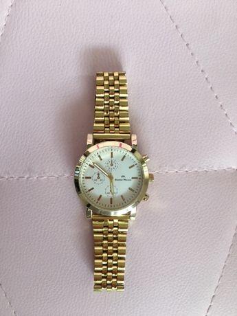 Zegarek na bransolecie biała tarcza + złoto