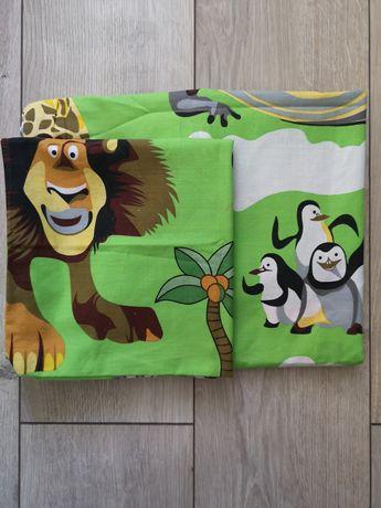 Комплект детского постельного белья Мадагаскар