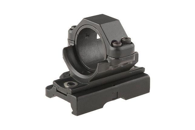 Montaż optyki 30mm QD na szynę RIS (z podwyższeniem) x 5 asg airsoft