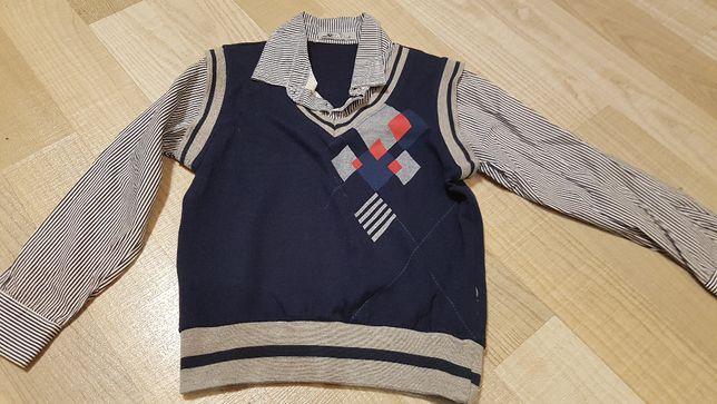 Koszula z kamizelką r. 122/128