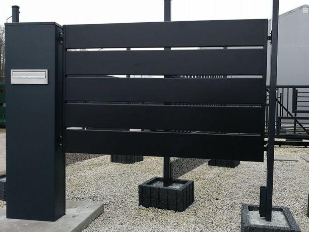 przęsła palisada ogrodzenie bramy nowoczesne wzory