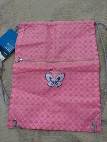 Plecak, worek różowy
