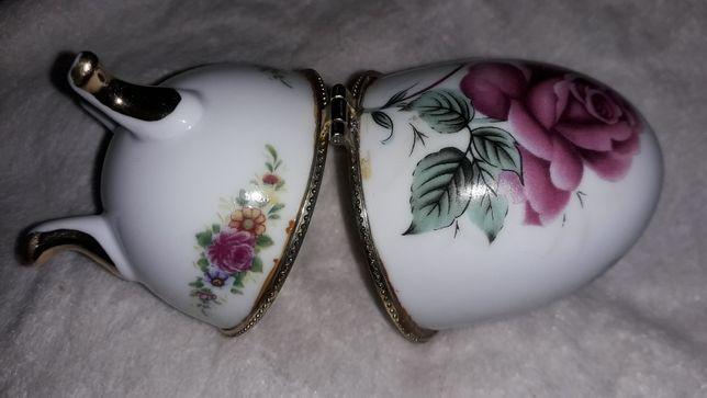 Puzderko jajko porcelanowe