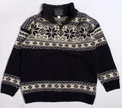sweter welniany norweski roz 120 pure wool