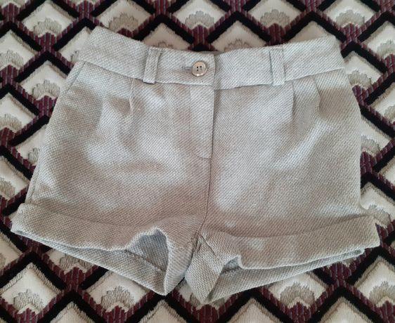 Фирменные теплые шорты F&F  под колготки для девочки