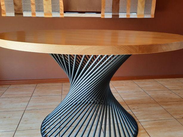 Stół okrągły, loft, blat dębowy, meble