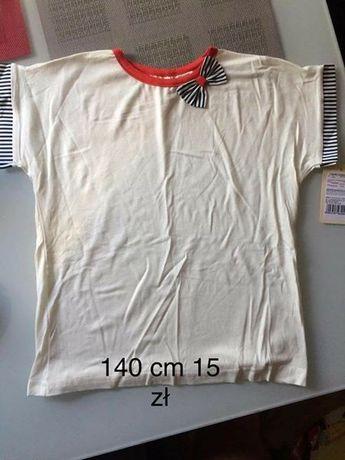 bluzka koszulka 140 cm dla dziewczynki wyprzedaż szafy