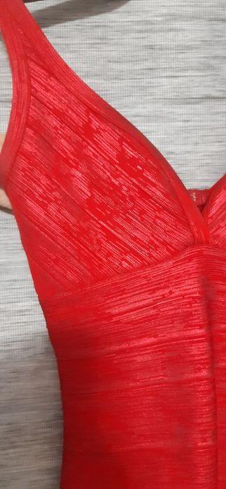 Czerwona sukienka bandażowa Ozorków - image 1