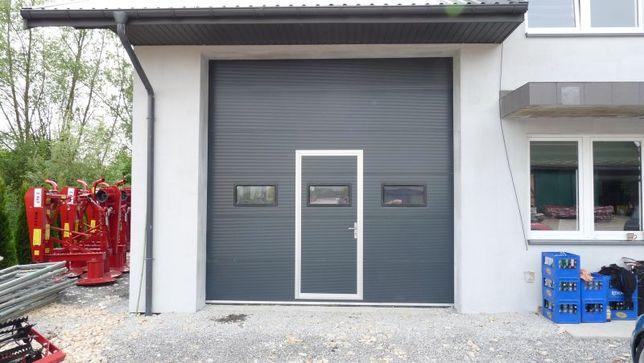 Bramy segmentowe przemysłowe 3 x 3 ANTRACYT drzwi garażowe