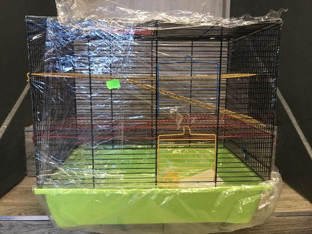 Klatka dla gryzonia szczura chomika piętrowa PINKY 3 METAL 50x45x32