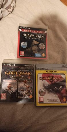 God of war collection (1,2), God of war 3, Heavy Rain PL PS3
