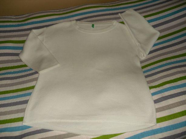 Biała bluza R.40, BENETTON.