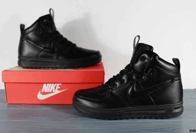 (182) РАСПРОДАЖА Nike Lunarforce 1 (45,46) - найки, термо, черные