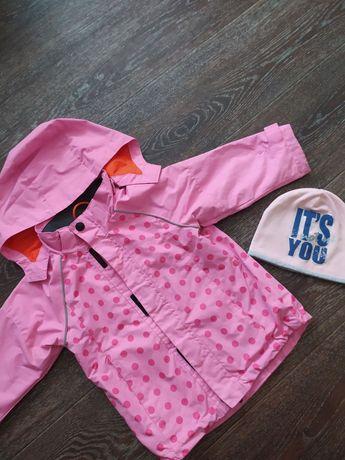 Демисезонная куртка H&M на девочку 1,5/2,5 года + ШАПОЧКА В ПОДАРОК:)
