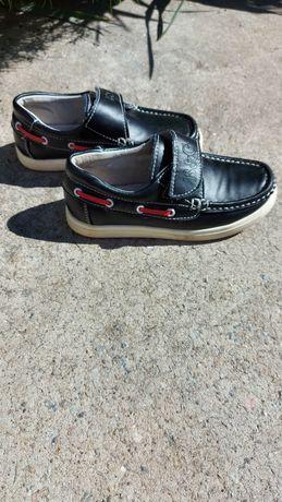 Кожаные туфли мокасины р.29
