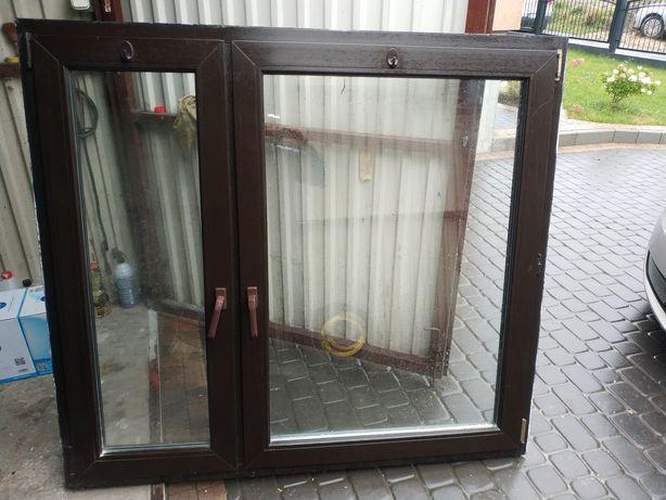 Okno z demontażu, plastik. 1550x1400