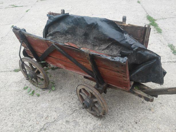 wóz konny miniatura zabytek-przed i po remoncie