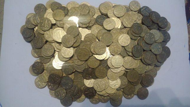 Монети України - 1 гривня - 1100 шт.