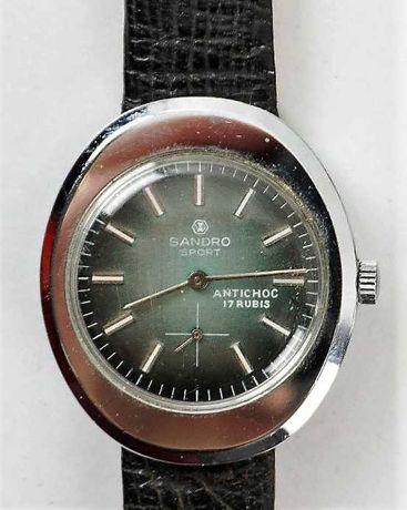 Relógio de corda Sandrosport anos 60