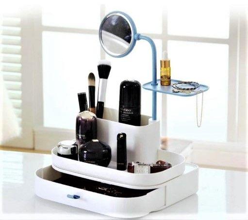 Продам новый органайзер для хранения косметики, с зеркалом.