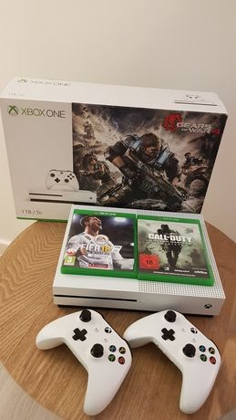 XBOX ONE S 1TB ! 2XPADY, 2XGRY - Call of Duty oraz Fifa 18, podstawka