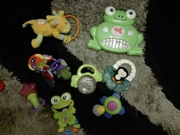 Zabawki dla niemowlaka,do nauki raczkowania, gryzaki, grzechotki