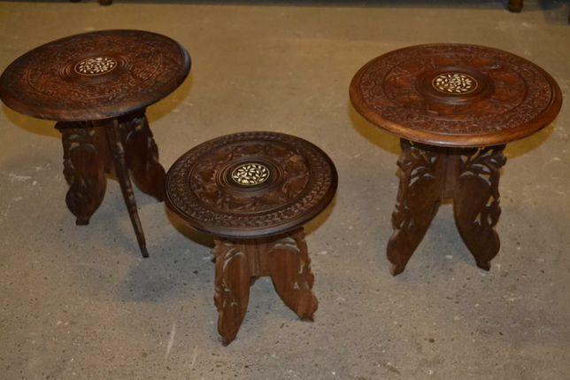 stoliki indyjskie ,trojaczki
