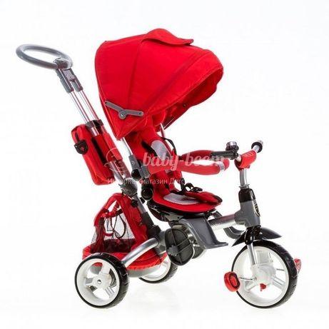Детский трёхколёсный велосипед, с родительской ручкой,коляска