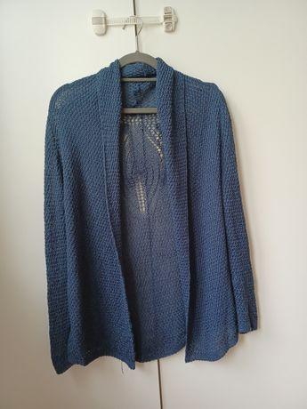 Sweter ażurowy kardigan damski M