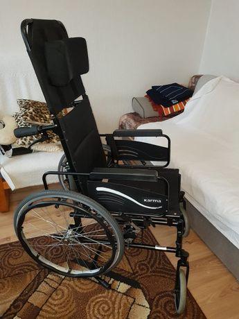 Wózek inwalidzki Karma KM-5000, podpierający głowę i plecy-specjalisty