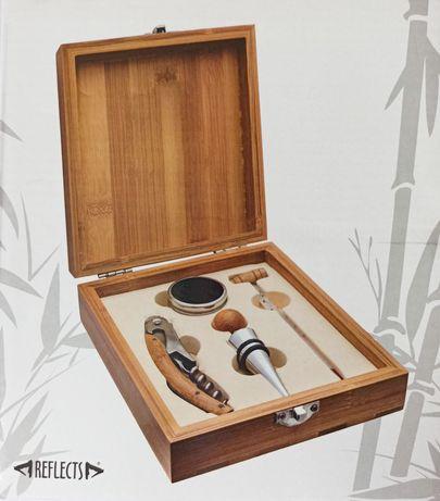 Бамбуковый подарочный набор для вина
