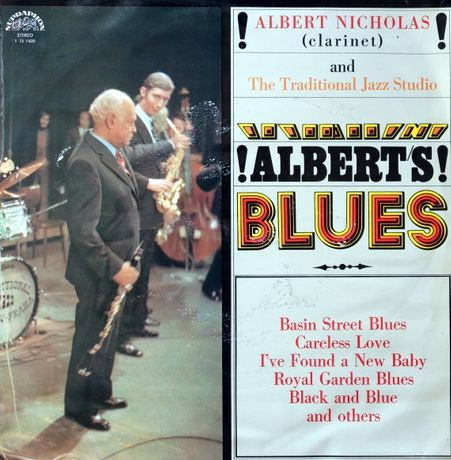 Albert Nicholas -klarnet ! ALBERT'S ! BLUES płyta winylowa