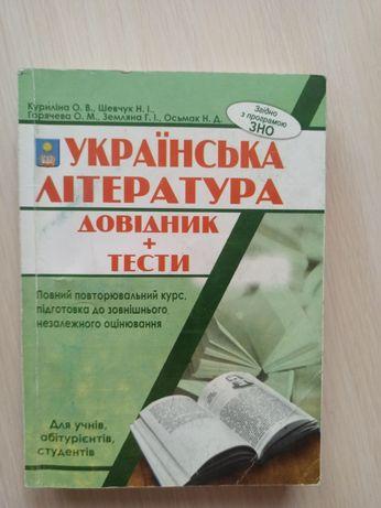 Українська література довідник тести