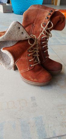 Buty zimowe kozaki r.37