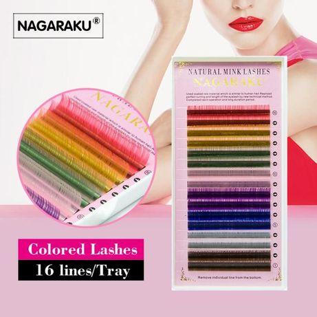 кольорові вії для нарощування Nagaraku 10 мм. 0.12С