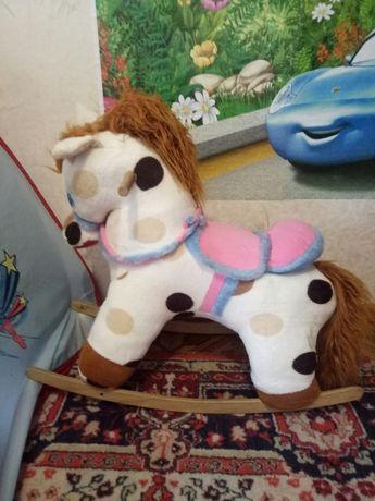 Лошадка-качалка+корова-прыгун