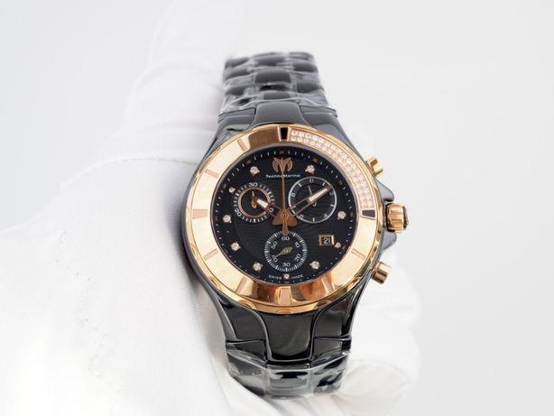 Женские новые часы Technomarine Chronograph Cruise Black Diamonds 40 м