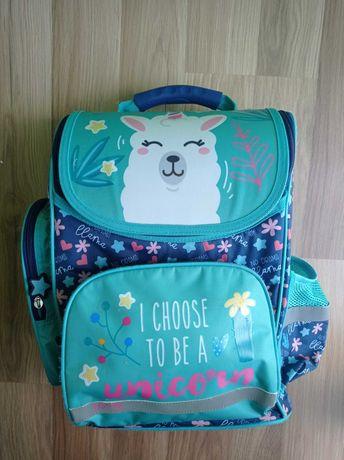 Tornister plecak szkolny St Majewski Premium LOOZZ Kids Lama Unicorn