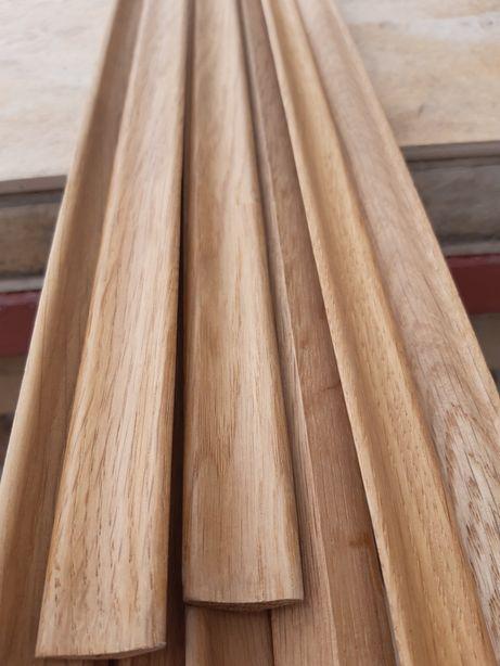 Listwa ćwierćwałek dębowa lakierowana 9 sztuk