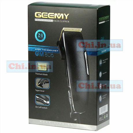 Профессиональная машинка для стрижки волос Gemei GM-806 проводная 220