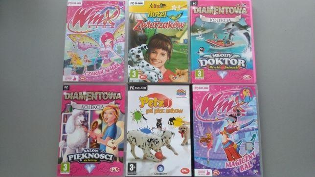 Zestaw gier DVD dla dziewczynki Petz Winx Hotel Zwierzaków Diamentowa