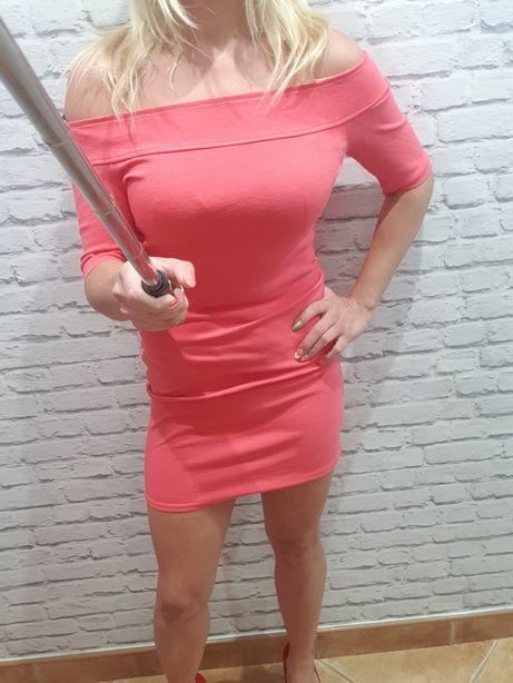 Sukienka shoulder up