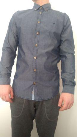 Carry koszula męska grafit łaty casual bawełna