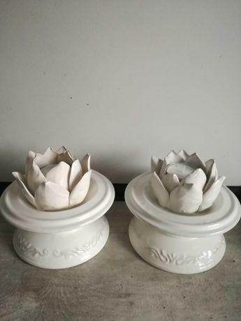 Swieczniki ceramiczne Ikea /2sztuki