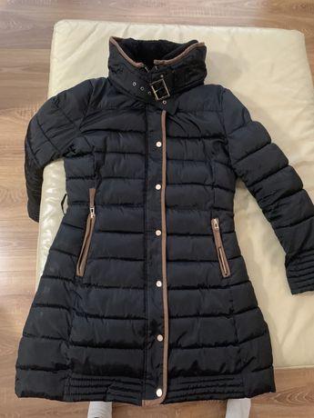Zimowy płaszcz płaszczyk długa kurtka xl