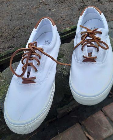 Buty trampki Polo Ralph Lauren 44R, białe,sznurówki skóra