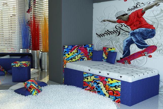 Super łóżko dla dziecka,dziecięce z materacem piankowym 10 cm.PROMOCJA