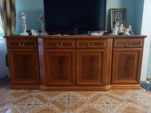 Meble drewniane włoskie kolor czereśnia intarsja okleina